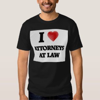 I love Attorneys At Law (Heart made from words) T-shirt