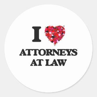 I love Attorneys At Law Round Sticker
