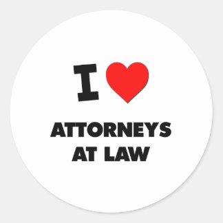 I Love Attorneys At Law Sticker