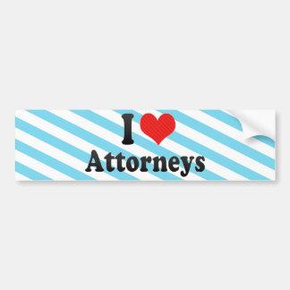 I Love Attorneys Bumper Stickers