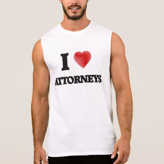 I love Attorneys (Heart made from words) Sleeveless T-shirts