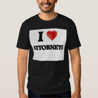 I love Attorneys (Heart made from words) Tshirts