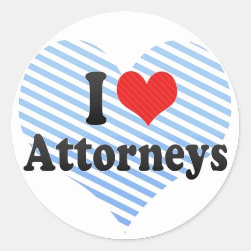 I Love Attorneys Sticker