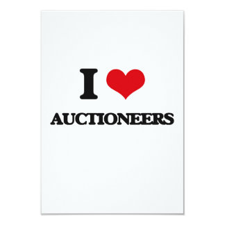 "I Love Auctioneers 3.5"" X 5"" Invitation Card"