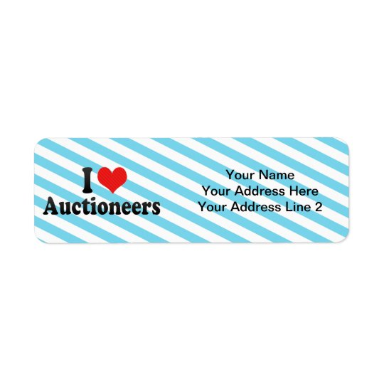 I Love Auctioneers Return Address Label
