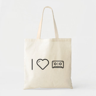 I Love Audio Cassettes Budget Tote Bag