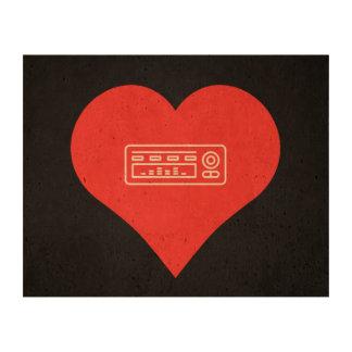 I Love Audio Equipment Icon Cork Fabric