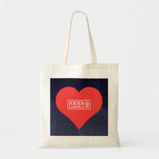 I Love Audio Equipment Icon Budget Tote Bag