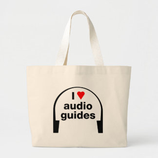 I Love Audio Guides Canvas Bag