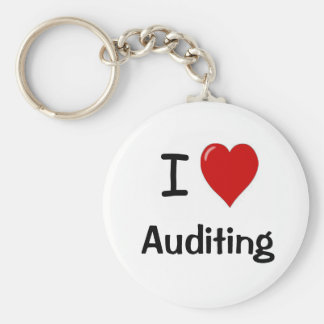 I Love Auditing - I Heart Auditing Basic Round Button Key Ring
