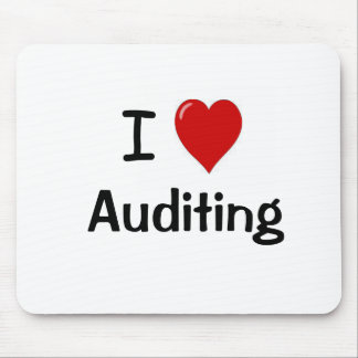 I Love Auditing - I Heart Auditing Mouse Pad