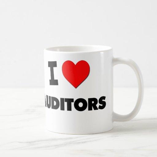 I Love Auditors Mugs