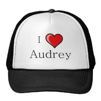 I Love Audrey Trucker Hats