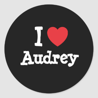 I love Audrey heart T-Shirt Stickers