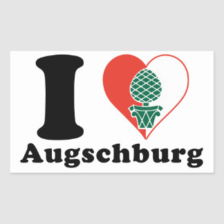 I love Augschburg Rectangular Sticker