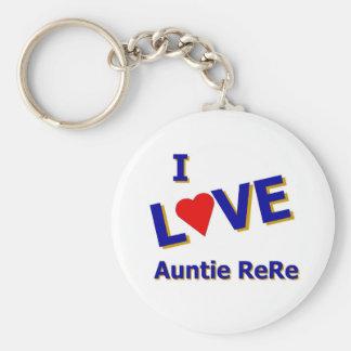 I Love Auntie ReRe designed by Celeste Sheffey Key Ring