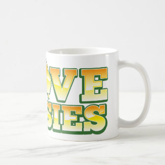 I Love Aussies! Australiana Design Basic White Mug