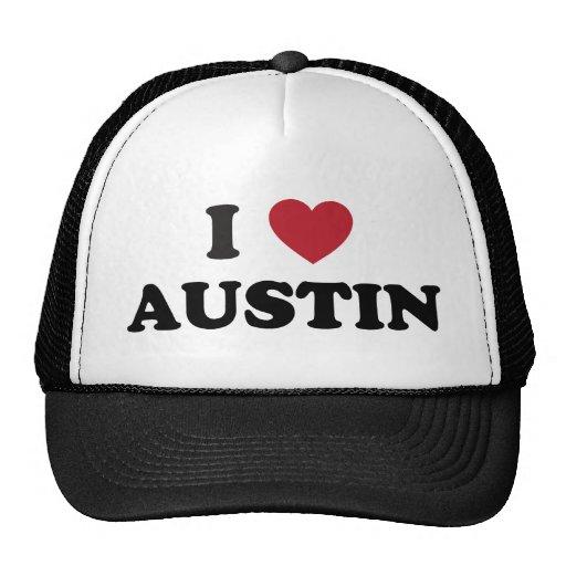 I Love Austin Trucker Hats