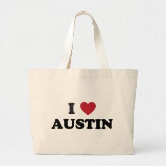 I Love Austin Large Tote Bag