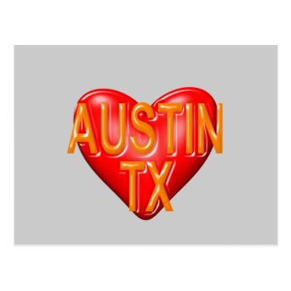 I Love Austin Texas Postcard