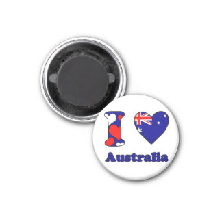 I love Australia 3 Cm Round Magnet