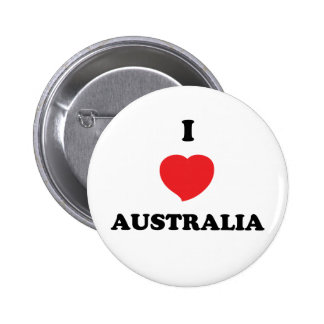 I LOVE Australia 6 Cm Round Badge