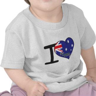 I Love Australia apparel T-shirts