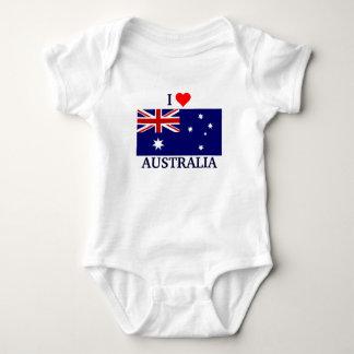 I Love Australia Baby Bodysuit