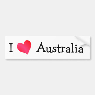 I Love Australia Bumper Sticker