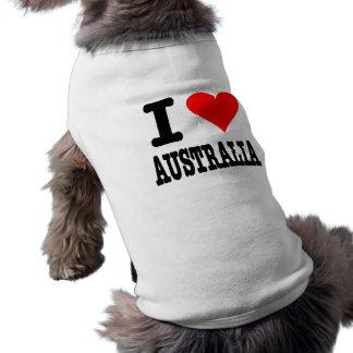 I Love Australia Sleeveless Dog Shirt