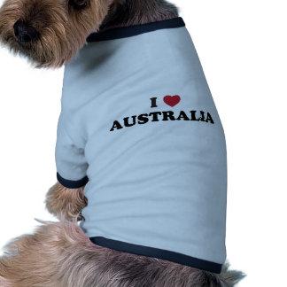 I Love Australia Ringer Dog Shirt
