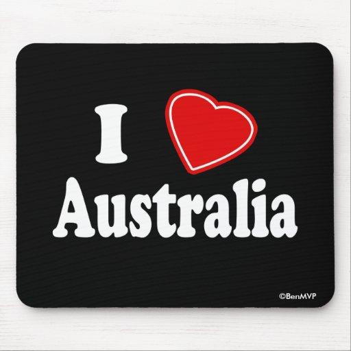 I Love Australia Mousepad