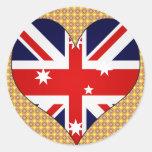 I Love Australia Round Sticker