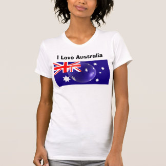 I Love Australia Tee Shirt - Australian Flag