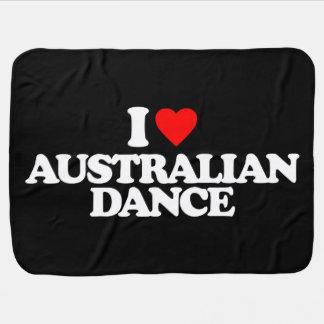 I LOVE AUSTRALIAN DANCE SWADDLE BLANKETS