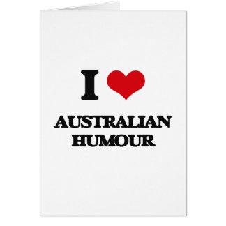 I Love AUSTRALIAN HUMOUR Cards