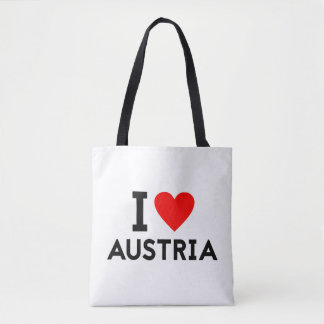 i love Austria country nation heart symbol text Tote Bag