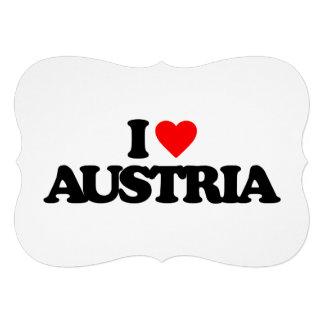 I LOVE AUSTRIA CUSTOM ANNOUNCEMENTS