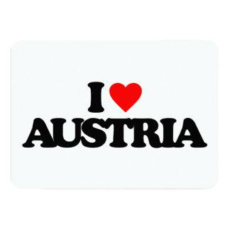 I LOVE AUSTRIA 13 CM X 18 CM INVITATION CARD