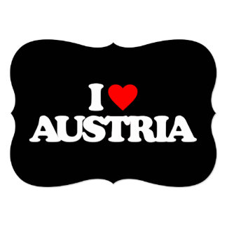 I LOVE AUSTRIA CUSTOM INVITATIONS