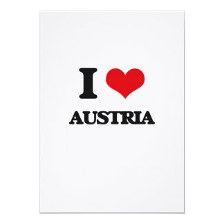 I Love Austria Customized Invitation Cards