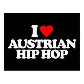 I LOVE AUSTRIAN HIP HOP POSTCARD