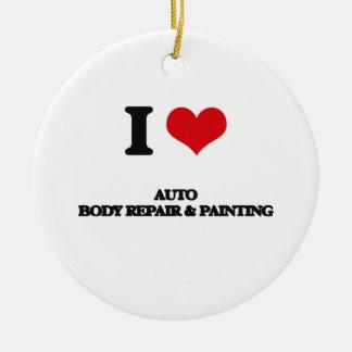 I Love Auto Body Repair & Painting Ceramic Ornament