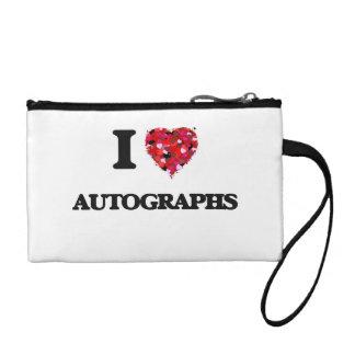 I Love Autographs Change Purse