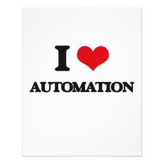 I Love Automation Flyer Design
