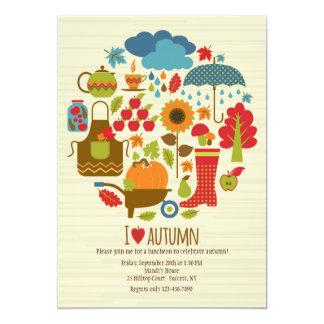 I Love Autumn Invitation