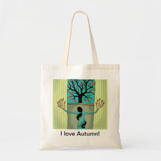 I love Autumn tote bag