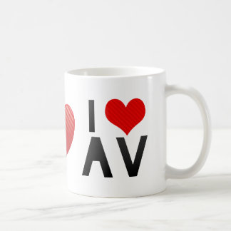 I Love AV Coffee Mugs