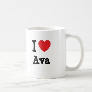 I love Ava heart T-Shirt Coffee Mugs
