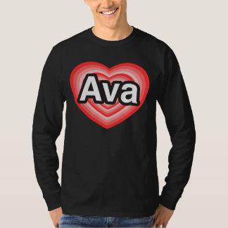 I love Ava. I love you Ava. Heart T-Shirt